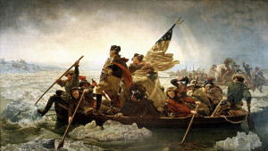 Painting of Washington's Crossing